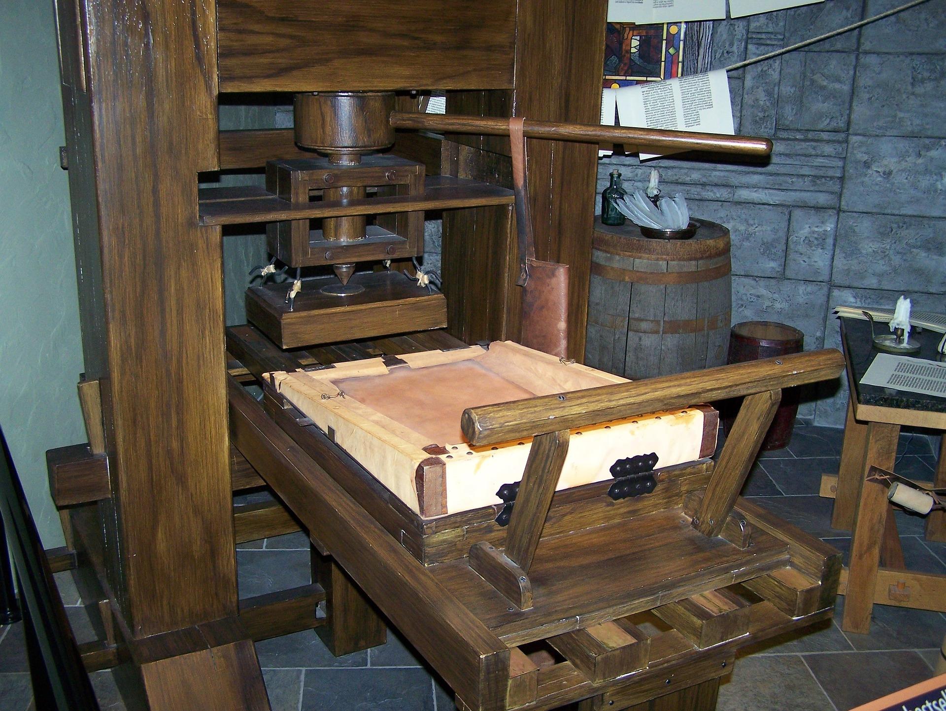 Original Gutenberg Printing Press Printing- From ...